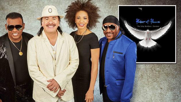 Santana & Isley Brothers: Große Heldenverehrung (Bild: Maryanne Billham, Sony Music, krone.at-Grafik)