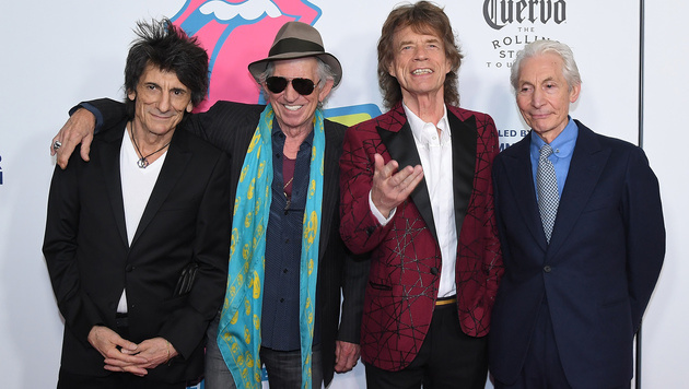Ronnie Wood, Keith Richards, Mick Jagger und Charlie Watts (Bild: AFP)