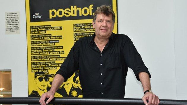 Wilfried Steiner vom Linzer Posthof. (Bild: liveBild)