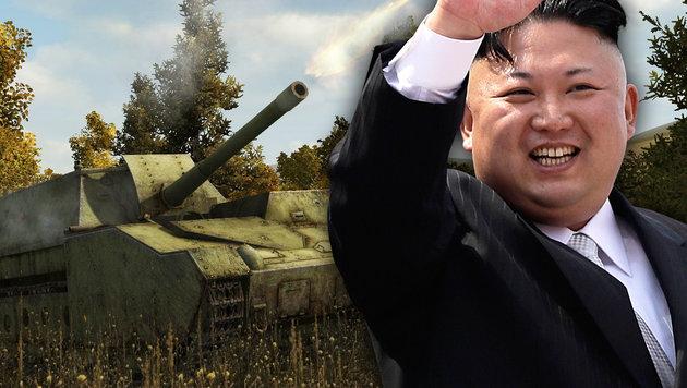 So nutzen die Eliten Nordkoreas das Internet (Bild: World of Tanks, AP, krone.at-Grafik)