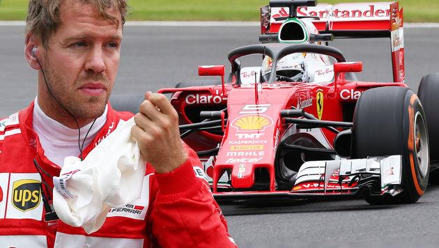 """Vettel über Cockpitschutz: Verzicht wäre """"dumm""""! (Bild: GEPA, krone.at-Grafik)"""