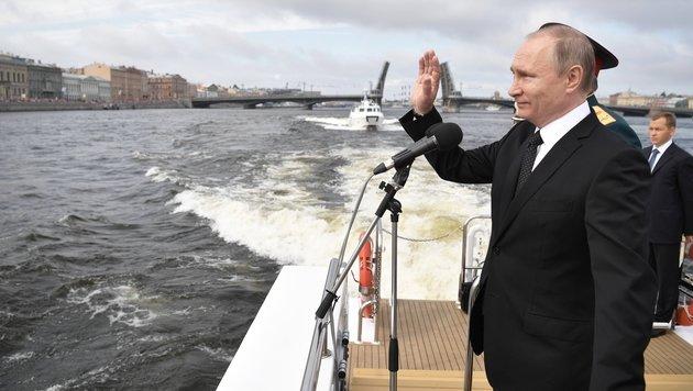Präsident Putin in St. Petersburg (Bild: AFP)