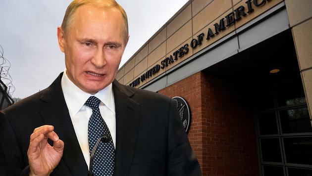 Mit der Ausweisung Hunderter US-Diplomaten würde Putin zahlreiche Russen arbeitslos machen. (Bild: AFP, AP)