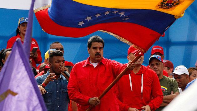 """Präsident Maduro betont: """"Ich gehorche keiner ausländischen Regierung."""" (Bild: AP)"""