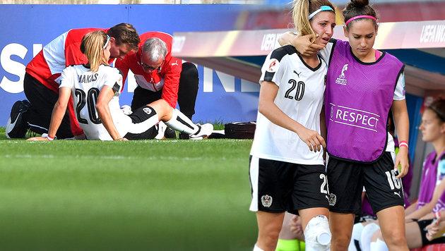 Drama vor EM-Halbfinale: ÖFB-Lady Makas fällt aus (Bild: GEPA)