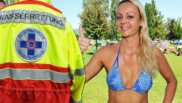 Die 32-jährige Sandra Grünwald zog den Buben aus dem Wasser. (Bild: APA/BARBARA GINDL, Klemens Fellner)