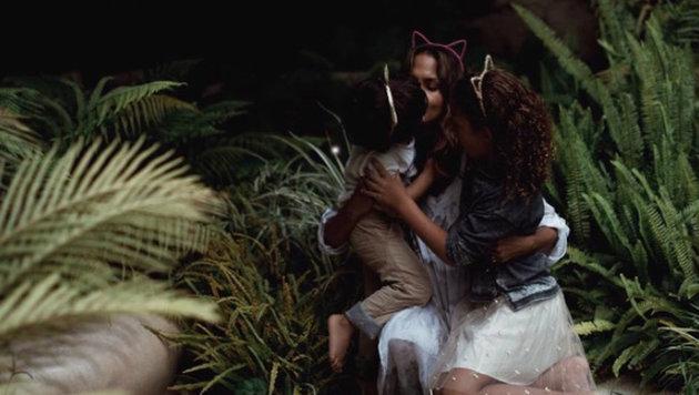 Halle Berry mit ihren Kindern (Bild: www.PPS.at)