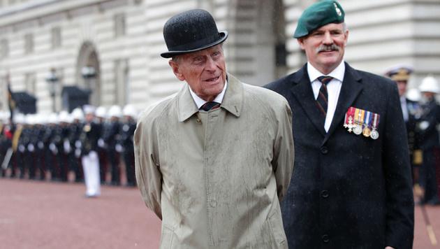 Das war Prinz Philips letzter offizieller Auftritt (Bild: AFP)