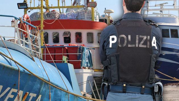 Deutsches NGO-Schiff in Lampedusa beschlagnahmt (Bild: EPA, AFP)