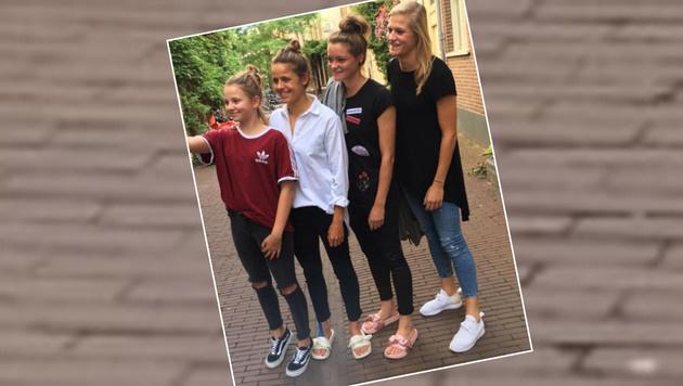 Was machen die ÖFB-Heldinnen an einem freien Tag? Selfies in der Stadt - Kraft für Dänemark tanken. (Bild: Instagram)