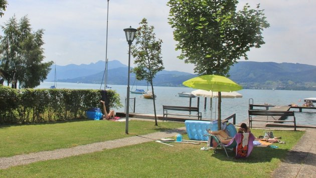 356 Weyregger sind dagegen, dass dieser Badeplatz als neuer Standort der Wasserrettung genutzt wird. (Bild: Marion Hörmandinger)