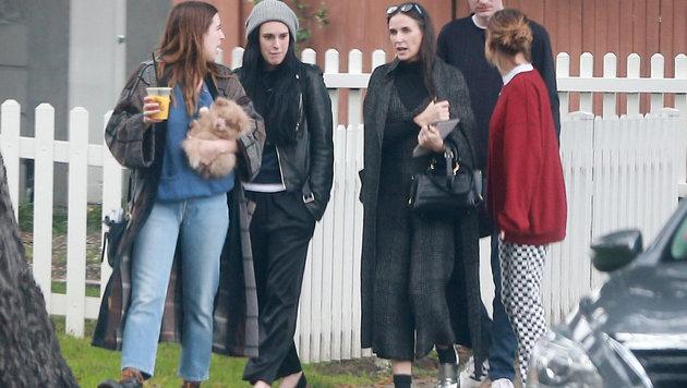 Demi Moore mit ihren drei Töchtern (Bild: www.PPS.at)