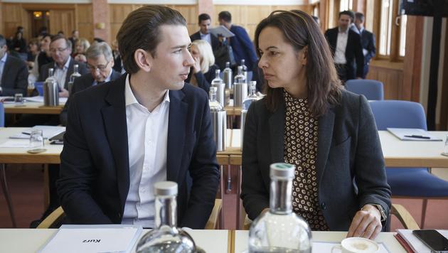 Sebastian Kurz und Sophie Karmasin bei der ÖVP-Klubklausur im Jänner 2017 (Bild: APA/ERWIN SCHERIAU)