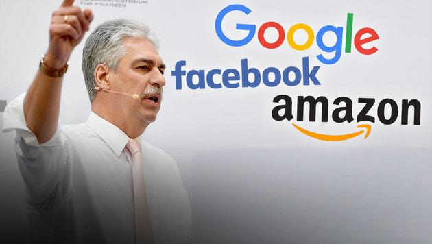 Finanzminister bittet Internetkonzerne zur Kasse (Bild: APA/ROLAND SCHLAGER,)