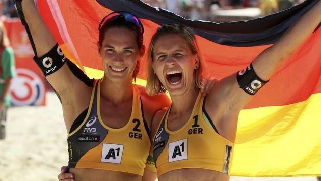 Deutsches Duo Ludwig/Walkenhorst sichert sich Gold (Bild: AP)