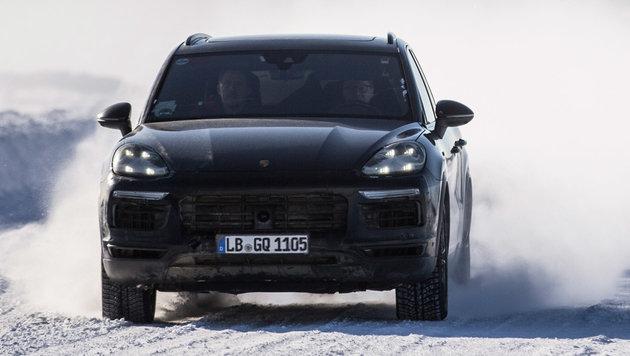 Erste Eindrücke vom kommenden Porsche Cayenne (Bild: Porsche)