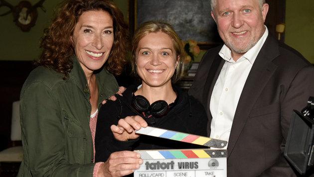 Barbara Eder mit Neuhauser und Krassnitzer (Bild: ORF)