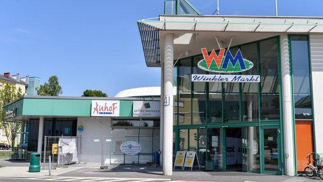 Der Winkler-Markt in Linz-Auhof wird gerade umgebaut. (Bild: Harald Dostal)