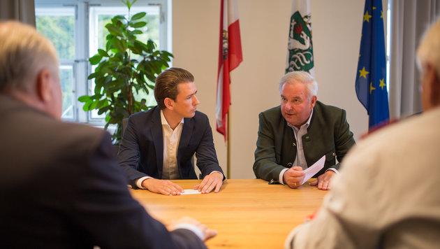 ÖVP-Chef Kurz bei einer Krisensitzung der steirischen Landesregierung (Bild: APA/…VP/JAKOB GLASER)