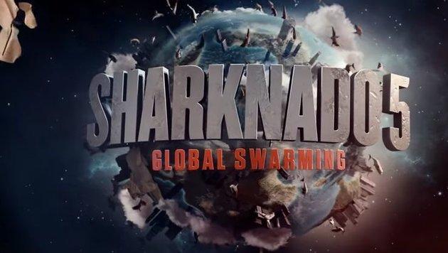 """""""Sharknado 5"""": Fin Shepard ist wieder auf der Jagd (Bild: YouTube.com/ONE Media)"""
