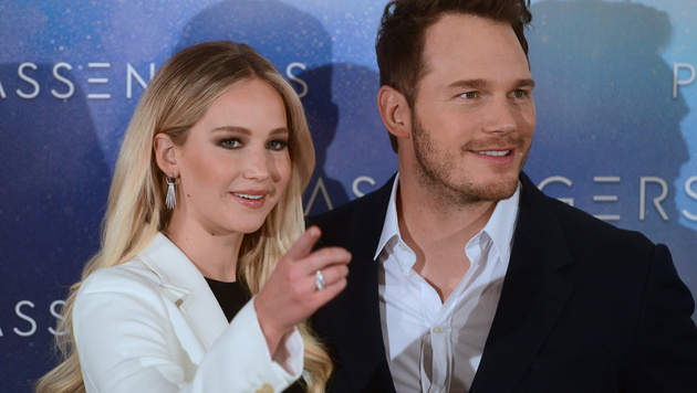 Chris Pratt und Jennifer Lawrence (Bild: AFP)