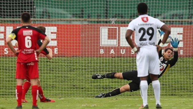 2016 hatte Anif mit Altach einen Bundesligisten zu Gast, verlor 0:1 und verschoss Elfer (Bild). (Bild: Daniel Krug)