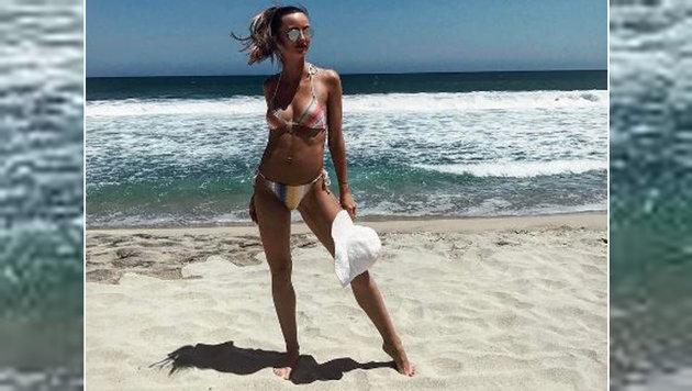 Wow! Heißes Bild von Ester Berych, der Herzdame von Tennis-Star Tomas Berdych, am Strand von Mexiko. (Bild: instagram.com)