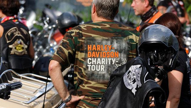 """""""Charity-Tour: Biker geben für kranke Kinder Gas (Bild: Walter Bauer)"""""""