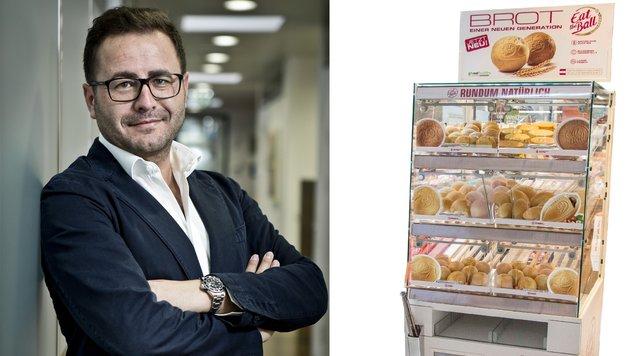 Bald gibt es die Brote in der Frischetheke - zur Freude von Michael Hobel in eigenen Aufstellern. (Bild: Eat the Ball)