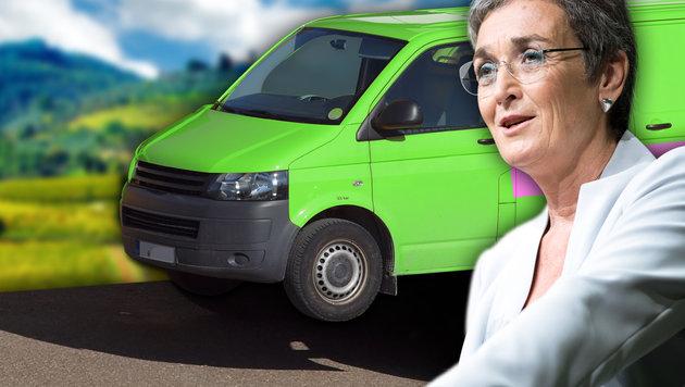 E-Bus-Flop: Grüne müssen mit Diesel wahlkämpfen (Bild: stock.adobe.com, thinkstockphotos.de, APA, krone.at-Grafik)