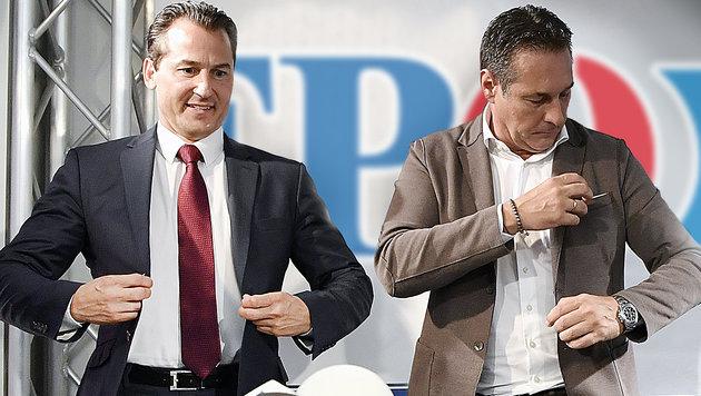 """Lugar zurück bei FPÖ: """"Kurz ist eine Mogelpackung"""" (Bild: APA/HANS KLAUS TECHT, krone.at-Grafik)"""