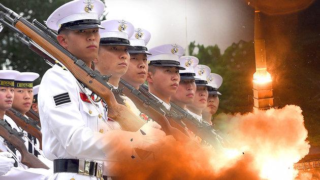 Jetzt will auch Südkorea eigene Atomwaffen bauen (Bild: AFP, AP, stock.adobe.com)