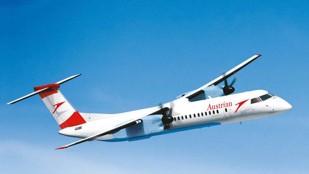 Ein Flugzeug der AUA und ein Schweizer Flieger wurden per Laserpointer am Flughafen Linz attackiert. (Bild: unbekannt)