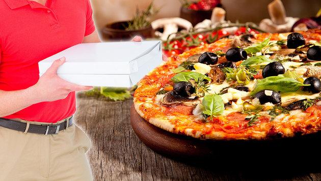 Pizzabote brutal niedergeschlagen: Duo gefasst (Bild: stock.adobe.com, krone.at-Grafik)