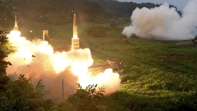 Gemeinsamen Raketenübung zwischen den USA und Südkorea (Bild: South Korea Defense Ministry)