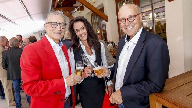 Siegfried Pichler, Walter Steidl mit Gattin Brigitte. (Bild: Markus Tschepp)