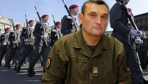 Gardekommandant geht nun in die Gegenoffensive (Bild: Klemens Groh, APA/HANS PUNZ, krone.at-Grafik)