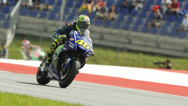 Rossi konnte auf der schnellen Strecke in Spielberg nicht mitmischen, wurde im Training Zwölfter. (Bild: APA/ERWIN SCHERIAU)