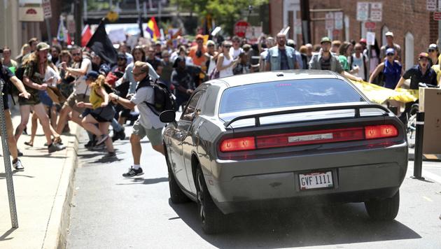 Sie starb, weil sie gegen US-Neonazis protestierte (Bild: AP)