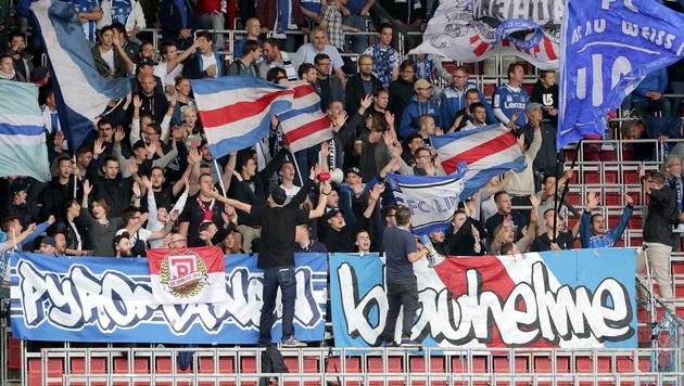 Wilde Fan-Randale nach Oberösterreich-Derby (Bild: GEPA)