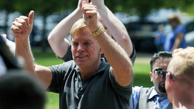 David Duke bei der Kundgebung in Charlottesville (Bild: AP)