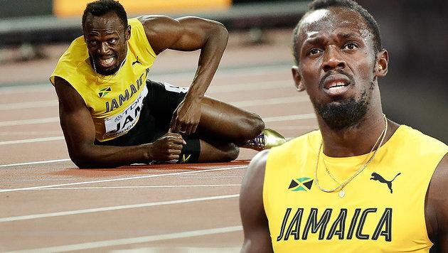 Drama in London! Bolt stürzt im letzten Rennen (Bild: AFP, AP)