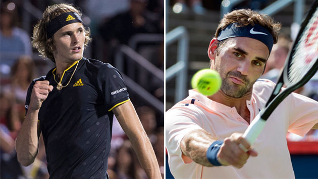 Federer vs. Zverev: Generationen-Duell in Montreal (Bild: AP)