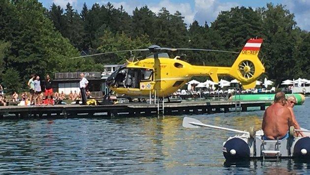 Landung am Badestrand (Bild: C11)