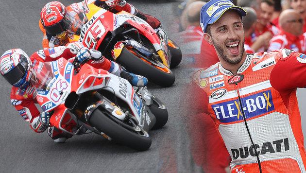 MotoGP: Dovizioso schlägt Marquez in Spielberg (Bild: GEPA)