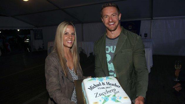 NHL-Star Michael Grabner feierte mit seiner Heather am Konzert Hochzeitstag. (Bild: Daniel Raunig)