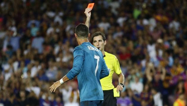 Cristiano Ronaldo: Drakonische Strafe für Schubser (Bild: AP)