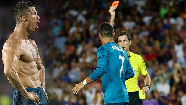Real schlägt Barca: Ronaldo trifft und sieht Rot (Bild: AP, AFP)