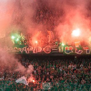 SK Rapid bekommt seine Fans nicht in den Griff! (Bild: APA/EXPA/JOHANN GRODER)