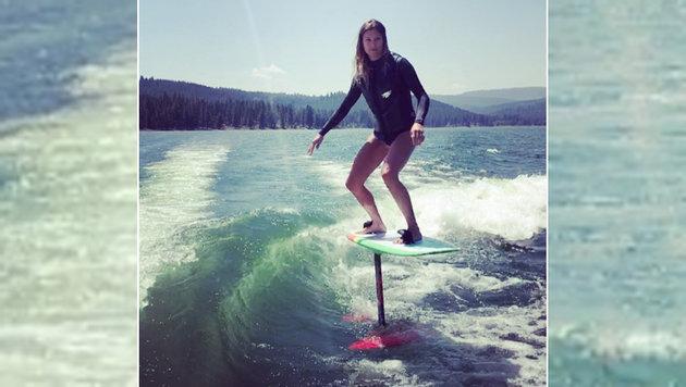Spektakulär! Mancuso brilliert auf dem Surfbrett (Bild: instagram.com)